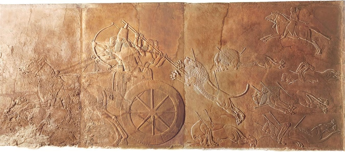 ashurbanipal hunting lions essay The royal lion hunt of ashurbanipal is shown on a famous group of assyrian palace reliefs from the north palace of nineveh that are now displayed in room 10a of the.